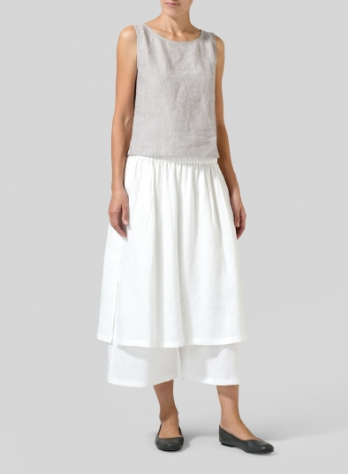 Linen Two-layer Culottes
