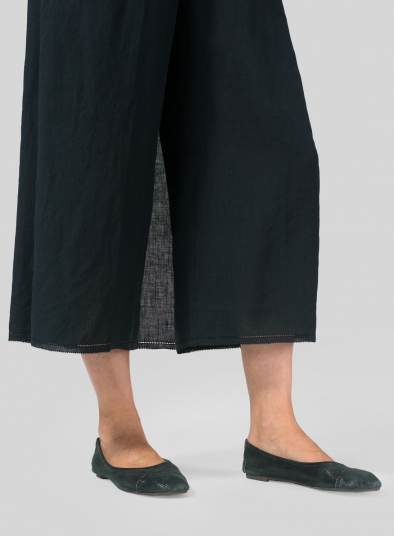 Linen Cropped Skirt Pants