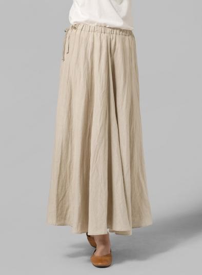 Flared Linen Skirt 105
