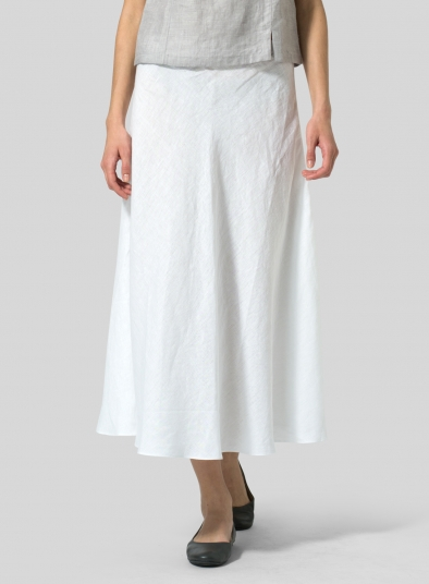 Linen Long Flowing Skirt