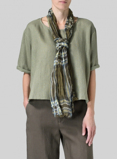 Linen Plaid Scarf