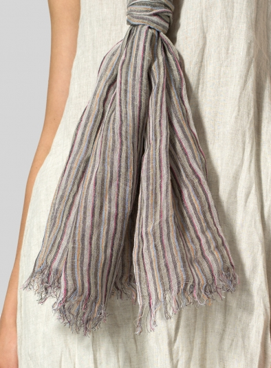 Yarn-Dyed Multi-stripe Scarf