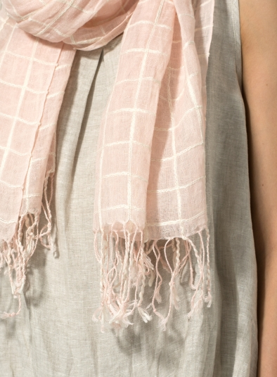 Jacquard Checked Scarf