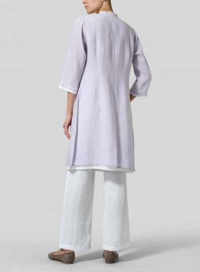 Linen Double Layers Long Top