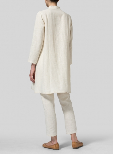 Linen Long Sleeve A-Line Tunic