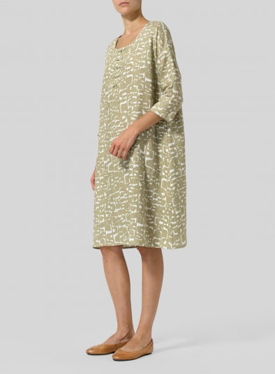 Linen Printed Pattern Long Tunic
