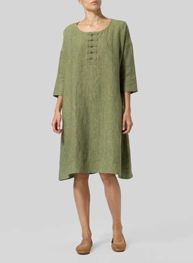 Linen Yarn-Dyed Long Tunic