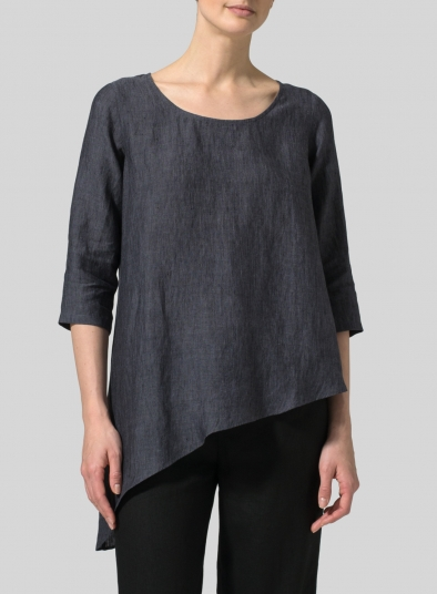 Linen Diagonal Top