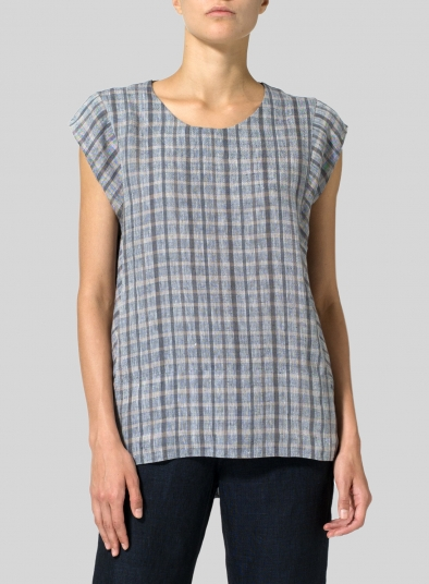 Linen Straight Stick-Shaped Top