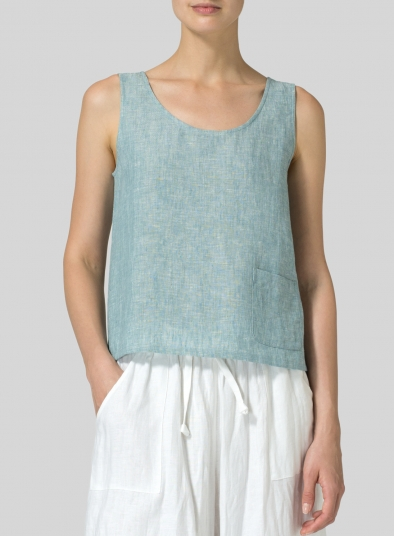 Linen Pocket Tank Top