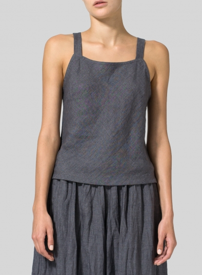 Linen Bias Cut Sleeveless Tank