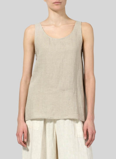 Linen A-line Sleeveless Top