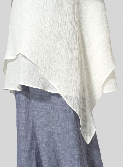 Linen Crinkle Gauze Sleeveless Layered Top