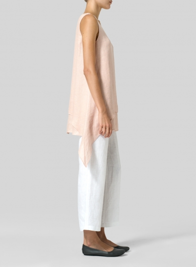 Linen Sleeveless Layered Lightweight Top