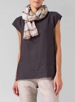 100% Cotton Double Layer Short Scarf