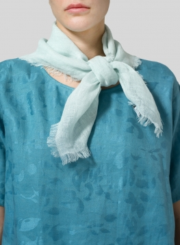 Mint Green Linen Square Scarf