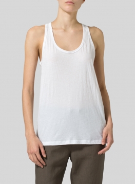 Lightweight-Cotton Racerback Camisole