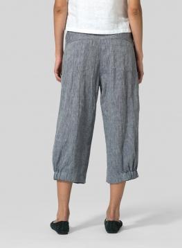 Linen Harem Pants Plus Size