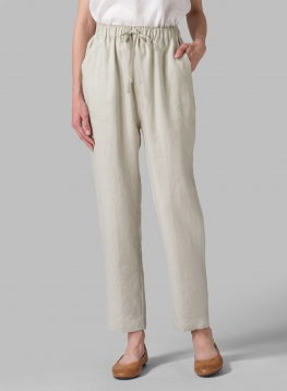 Linen Narrow-Leg Regular Length Pants