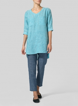 Linen Drop-shoulder Tunics