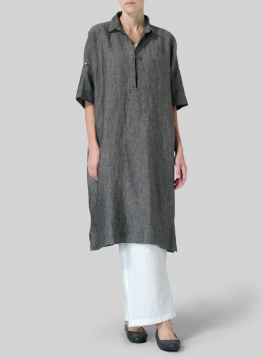 Linen Oversized Monk Dress