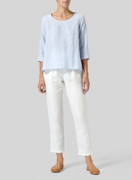Linen A-line High-Low Top